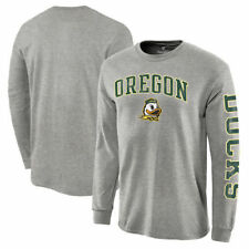 Oregon Ducks Distressed Arch Over Logo Long Sleeve Hit T-Shirt - NCAA