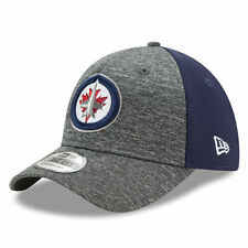 Winnipeg Jets New Era Shadow Blocker 39THIRTY Flex Hat - Heathered Gray/Navy