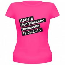 HEN WEEKEND HEN NIGHT PARTY T-SHIRTS HEN NIGHT PARTY TOPS PERSONALISED SIZE 8-24