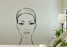 Modern Wall Stickers Face Vinyl Decal 15 Colours 02308