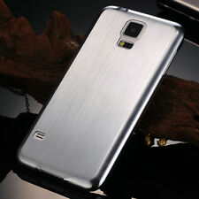 Luxury Brushed Aluminum Metal Rigid Back Cover Case For Samsung Galaxy S5 I9600