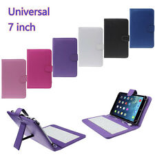 7 inch Universal Fold Leather Case Cover with Micro USB Keyboard For Tablet PC