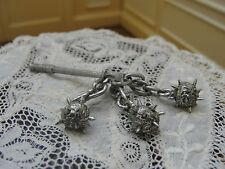 Doll House Miniature Metal 3 Ball Flail  -Medieval Weapon
