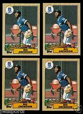 4 TOPPS 1987 BO JACKSON RC CARDS #170 LOT BASEBALL ROYALS  ROOKIE FUTURE STARS