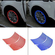 16 Strips Cool Red Reflective Motorcycle Car Rim Stripe Wheel Decal Tape Sticker