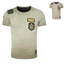 Key Largo men's T-Shirt DESERT Camouflage Patches Used Look