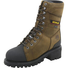 Caterpillar Casebolt WP TX ST Steel Toe Brown Logger Boots Shoes P90733