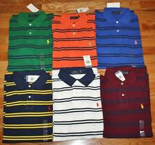 NEW NWT Mens Polo Ralph Lauren Classic Fit Striped Polo Shirt Pony Logo $89 *1Q