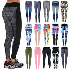 Women's Yoga Sports Running Pants Leggings Stretchy Fitness Trousers Gym Clothes