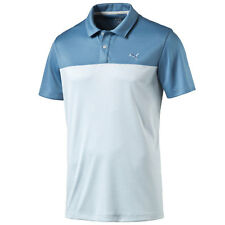 PUMA GOLF MEN'S DRY CELL POLO SHIRT TAYLORED FIT PLATFORM POLO BLUE HEAVEN