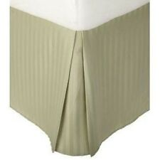 1 Qty Bed Skirt/Valance Egyptian Cotton Drop 35 Cm 1000 TC Moss Stripe