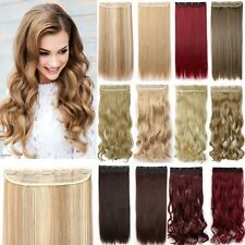 1Pcs Real Thick Clip In On Full Head Hair Extensions Brown Blonde As Human UK Mr