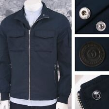 Peter Werth Mod Retro 60's Zip Through Military Twill Jacket Navy