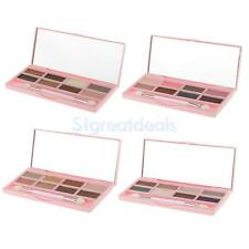 8 Colors Shimmer Matte Eyeshadow Makeup Smoky Eye Shades Palette w/ Brush Mirror