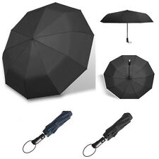 Automatic Folding Umbrella 10-Rib Strong Windproof Super Wide 46 Inch OutdoorLAC
