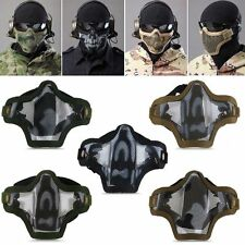 Outdoor Sport Metal Mesh Half Face Protective Masks COD Cosplay Airsoft Military