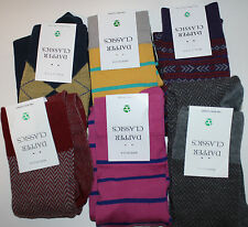 Dapper Classics Knee Socks NWT 8 - 12 1 Pair You Pick Color Gray Navy Red Yellow