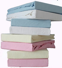 Pack of 2, Baby Cot Bed Jersey Fitted Sheet 100% Cotton 70x140cm.