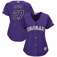 Trevor Story Majestic Colorado Rockies Baseball Jersey - MLB