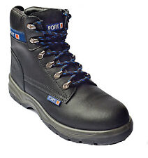 MENS SAFETY BOOTS STEEL TOE CAP WORK ANKLE FORTRESS SIZE 6- 12 CLEARANCE £14.95