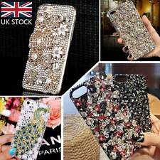 Luxury Unique Handmade DIY 3D Bling Diamond Crystal Gem Peacock Case Cover Skin