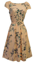 New Pink Floral WWII 1930's 1940's Vintage style Land Girl Swing Tea Dress