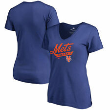 New York Mets Women's Frontsweep Slim Fit T-Shirt - Royal - MLB