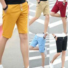 Fashion Mens Casual Pants Baggy Shorts Pockets Cargo Cotton Short Pants Trousers