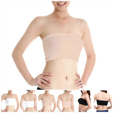 Fashion Lady's Sexy Strapless Crop Top Vest Bra Bandeau Boob Tube Brassiere