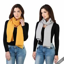 Womens Ladies Simple Crinkle Long Scarf Shawl Hijab Stole Wrap Cover Up Cape