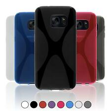 Silicone Case For Samsung Galaxy In X-Style Cover Case Bumper + Protective Foils