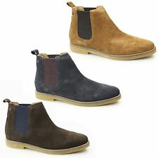 Base London FERDINAND Mens Suede Casual Lined Comfort Ankle Dealer Chelsea Boots