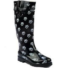Cotswold DOG PAW WELLY Womens Ladies Adjustable Wellington Boots Black/White New
