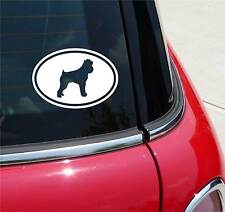 BRUSSELS GRIFFON GRIFF DOG GRAPHIC DECAL STICKER ART CAR WALL EURO OVAL