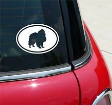 JAPANESE CHIN CHINS DOG GRAPHIC DECAL STICKER ART CAR WALL EURO OVAL