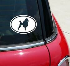 POODLE POODLES DOG GRAPHIC DECAL STICKER ART CAR WALL EURO OVAL