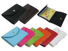 10 Sleeves Leather Credit Card Holder Wallet Name Case Business