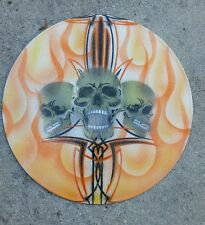 Hot Rat Rod Tattoo Airbrush Skull Record  Rockabilly Pinstripe Wall Art by Kro