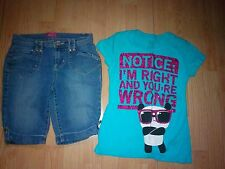 GLO & STARS AND SPRINKLES 2 PIECE LITTLE GIRLS OUTFIT SIZE 7-8