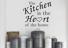 Quotes Wall Stickers Heart Of The Home Vinyl Decal 15 Colours 02403