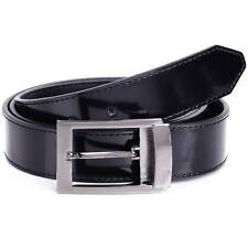 VERSACE COLLECTION Mens Fashion Leather Belt Black Shiny Medusa Buckle Italy 178