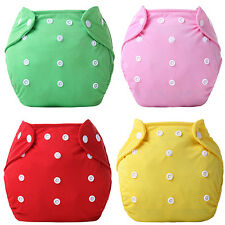 1 Pc Reusable Baby Infant Nappy Dotted Cloth Washable Diapers Soft Covers Shiny