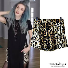 Ladies Retro Vintage High Waisted Leopard Print Shorts Beach Casual Summer -sh29