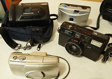 Lot of 3 35mm Film Cameras,2 with Cases.Olympus Minolta and Hanimex.
