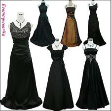 Cherlone Satin Black Ball Formal Bridesmaid Sparkle Wedding/Evening Gown Dress