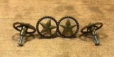 """Antique Brass Star Drawer Pull 1 1/2"""" wide (Set of Four) Home Decor 021-52318"""