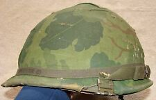 Vietnam Era US M1 Helmet with Liner and Camouflage Cover - Complete