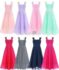 Girl Princess Chiffon Dress Wedding Birthday Formal Pageant Graduation Ballet