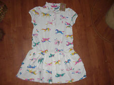 BNWT GIRLS JOULES JNR LAWN CREAM PONY SUMMER DRESS IN AGE 11-12 YRS.rrp £27.95