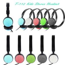 New Kids Wired Foldable Stereo Headset Headphone with Microphone